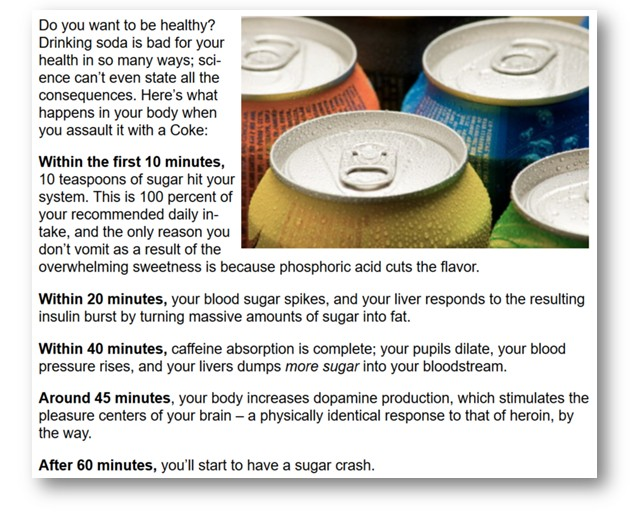 Mouthful Matters - disturbing facts about fizzy drinks