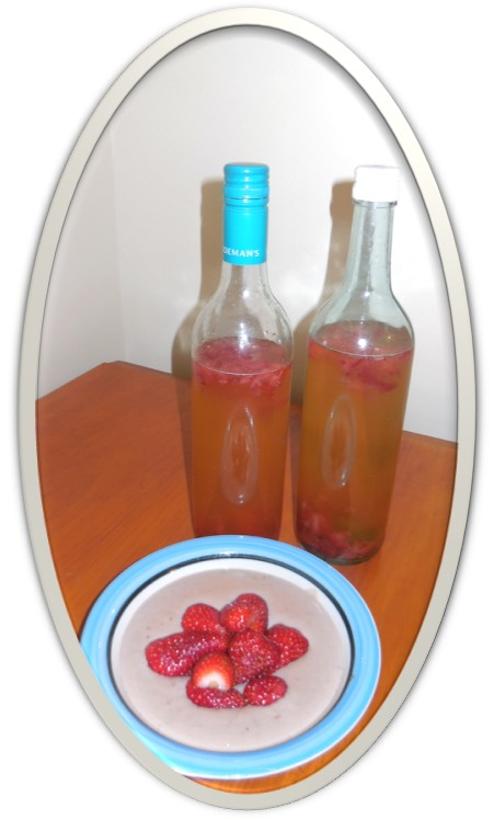 Making Water Kefir with the Strawberries