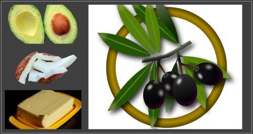 List good fats vs bad fats chart