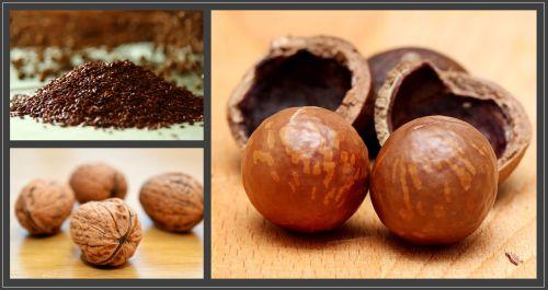 Maadamia, walnut & flaxseeds all represent good oils